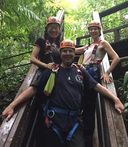 Rob, Hong Ying and Myself after surviving the zip line adventure. , Brazzie - June 2016