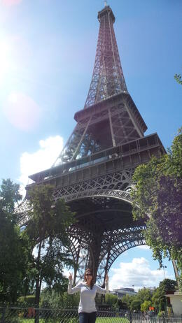 Outside the Eiffel Tower! , Mckenzie C - August 2014