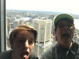 My grandson and me at the top of the Sydney Eye , Elaine P - June 2017