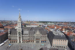 View of Munich City Hall with Marienplatz - May 2011