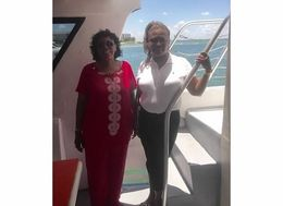 Laura and Diedra enjoyed the Bayside tour. , Diedra T - July 2015
