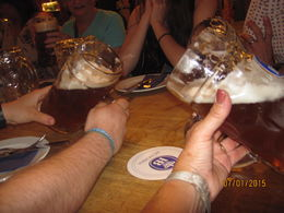 Our final stop of the beer and food evening - food and steins of Munich's best bier! This was a great compliment to the Beer and Oktoberfest museum and the impressive knowledge of our guide. , Robin - August 2015