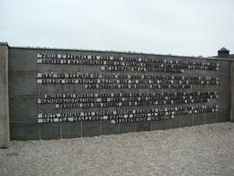 Dachau Memorial wall, Alison W - October 2010