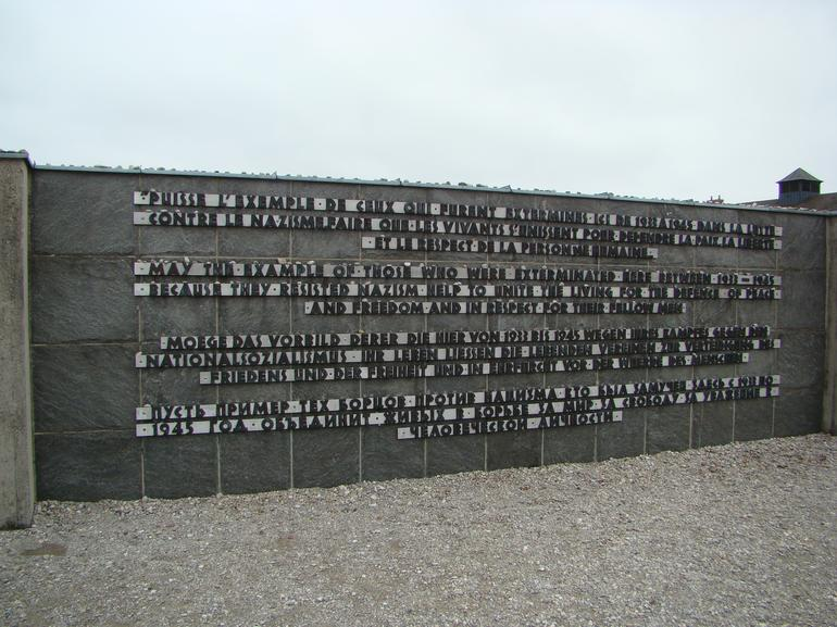 Dachau Memorial wall - Munich
