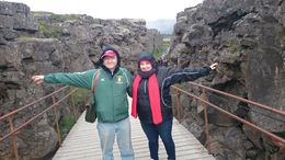 This is the crack in the fault that separates America from Eurasia. America on the left, Eurasia on the right. , Andaluza N - November 2015