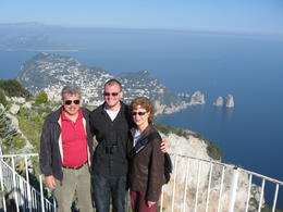 Me, Eric and Laura on a day trip to Capri, from Rome, where Eric attends Temple University. , Thomas H - March 2012