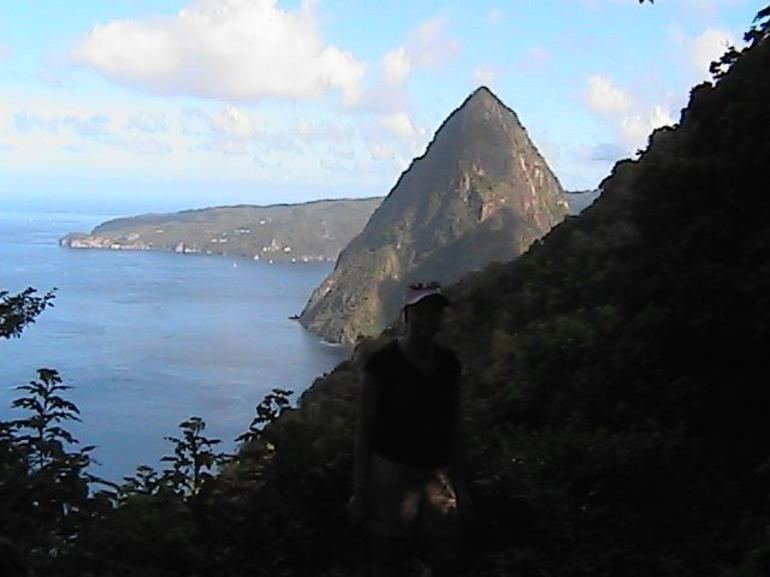 Looking north from the midpoint - St Lucia