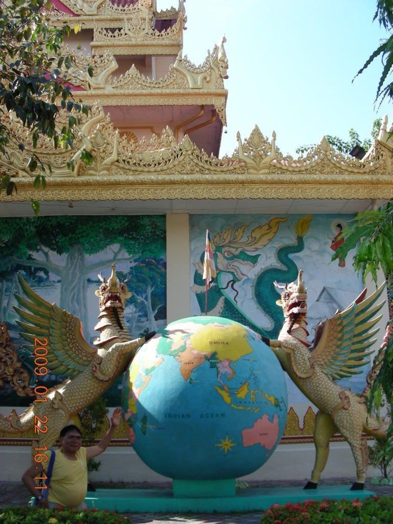 Outside the Burma Temple in Penang - Penang