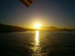 The sun going down in Sausalito , Kerry ' - July 2013