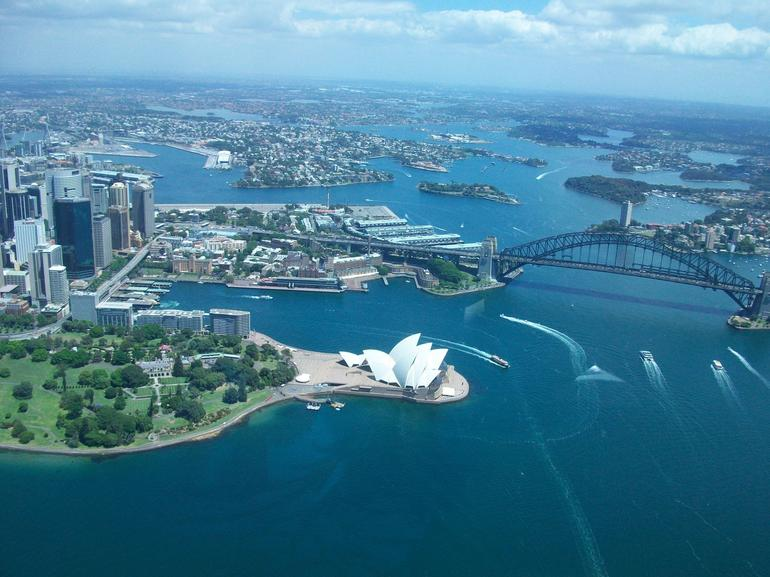 Sydney Harbour from helicopter - Sydney