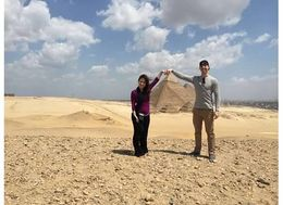 Christian and Veronica Fletcher of Austin, Texas in Giza, Egypt! , Veronica - April 2015
