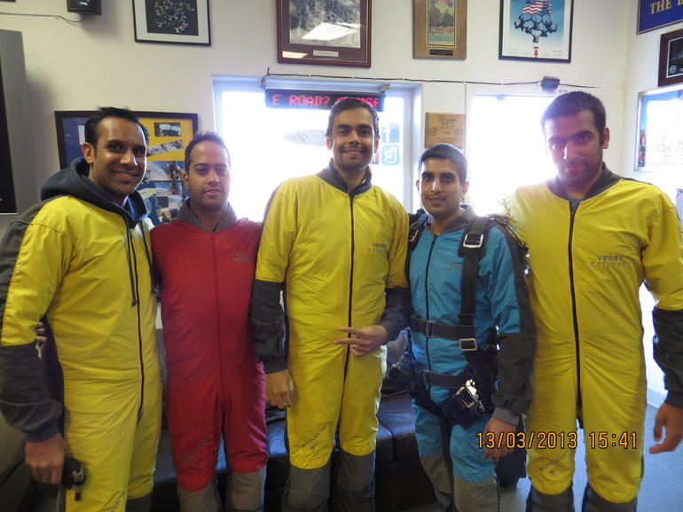 The group pre sky dive - Las Vegas