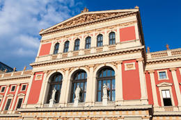 "The Wiener Musikverein (English: ""Viennese Music Association"") is a famous Vienna concert hall. It was built in 1870. - November 2011"