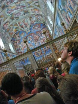 OK so I wasn't meant to take this photo. I almost got my camera confiscated. But I wanted to get a photo of the Sistine Chapel ceilings. Totally amazing. And yes, it can get crowded in there. So my ...  - March 2008