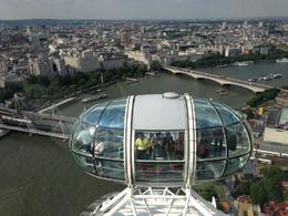 A view from the top of the London Eye of the capsule below, Nick - August 2013