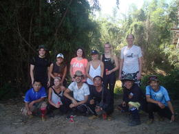 Our group at the end of our trek. Kurt is 1st row, second from the right. , Robert L - December 2016