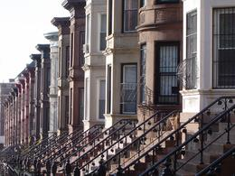 This is one of my favorite photos of a block of Brownstone buildings in Brooklyn., Robert R - April 2008