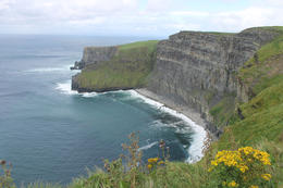 Northwest view of Cliffs of Moher , Theresa H - September 2016