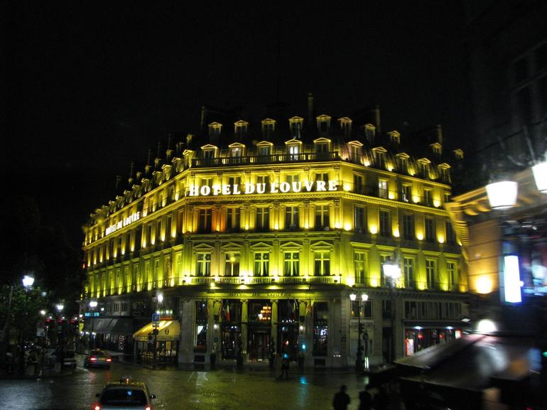 Hotel at night - Paris