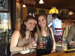 Enjoying some anchor steam at Vesuvio Cafe!, Michelle W - May 2014