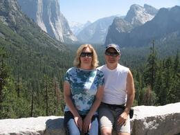 Here we are between Half Dome and El Capitan. - August 2008