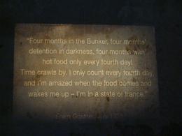 Inside a bunker prison cell, Alison W - October 2010