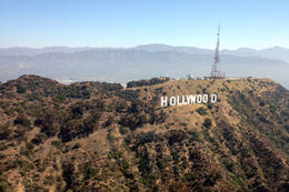 The Hollywood sign!, Jules & Brock - September 2012