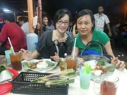 me and my friend tried nasi lemak and lemon tea , Liany H - January 2014