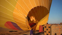 Filling up the balloon! - February 2012