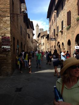 Quaint street full of shops in Siena. , Jim F - July 2015