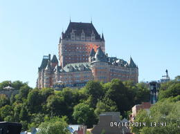 We have multiple pictures of Qeubec's famous chatea Frontenac, but the view from the river is truly unique. , James M - September 2014
