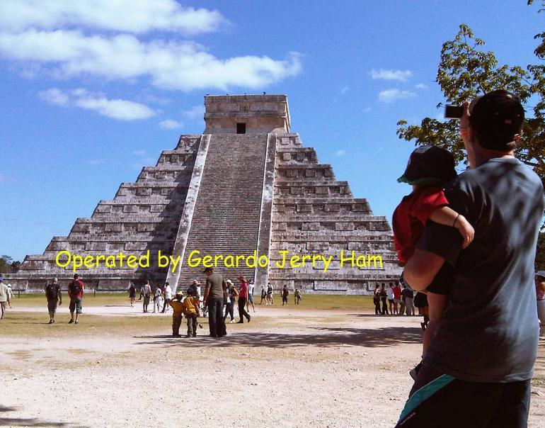 Visitors admiring Chichen Itza - Cancun