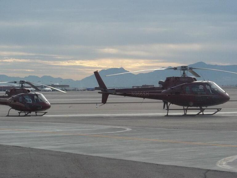 Walking out to our helicopter - Las Vegas
