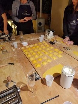 Our homemade ravioli stuffed with ricotta, butternut squash and chives!!! , cwolf2704 - November 2017