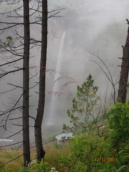 Piso Piso waterfall on a misty day in December 2017 , Brian M - January 2018