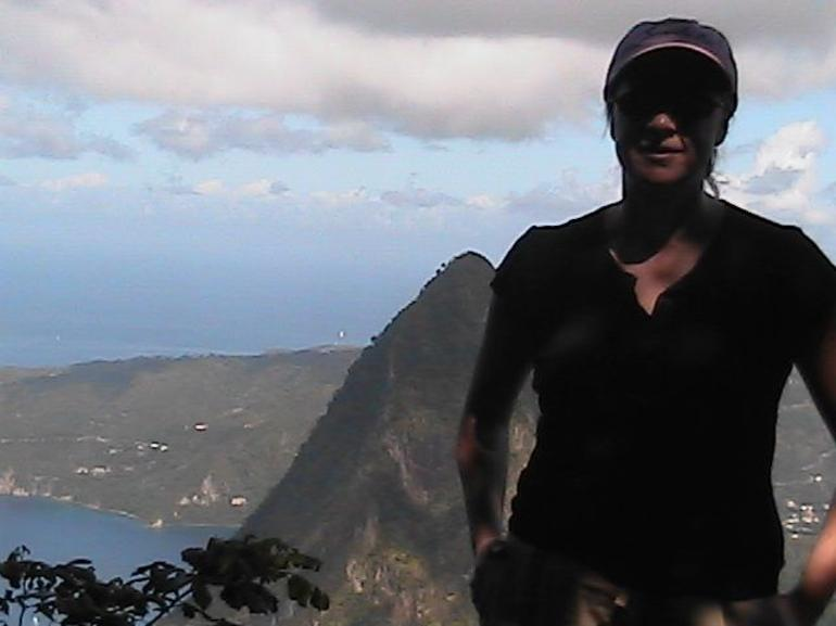 A grueling climb to the top - St Lucia