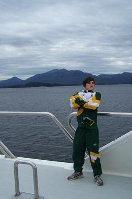 Our son Benen enjoying the breeze on the upper deck. , Maeliosa S - January 2012
