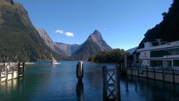 We are not in the photo here, but its the view of Milford Sound right before boarding the Pride of Milford. Such breathtaking view! , ERDOUGLAS L - April 2015