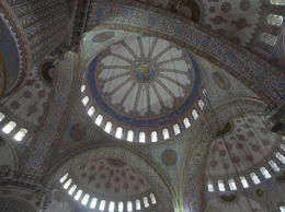 Ceiling of the Blue Mosque , Leslie N - August 2014