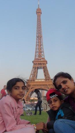 My family in front of Eiffel tower , Madhugiri V M N - May 2011