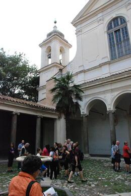 Bisillica de San Clemente courtyard. , Donald E. S - October 2012