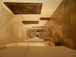 A corridor view inside the Abbey , RICHARD W - August 2012