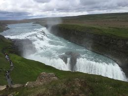 A view of Gulfoss from above. , Samantha S - August 2015