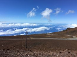 The summit at the Haleakala National Park , qunjie - August 2016