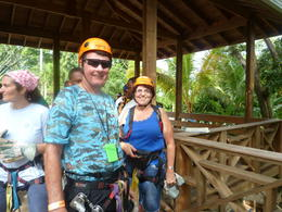 Getting ready for the Zip Line ride. , Joe H - January 2013