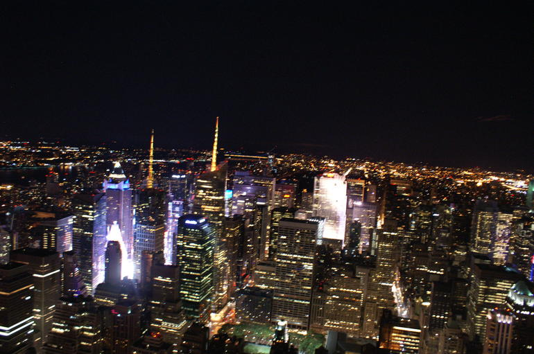 Midnight on top of the world - New York City