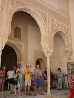 With out guide and tour group, Laura All Over - August 2014