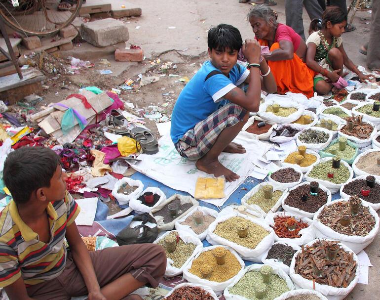 Street vendor - spices - New Delhi