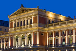 Wiener Musikverein, Vienna Concert Hall. Every year, the Vienna New Year's Concert is held here. - November 2011