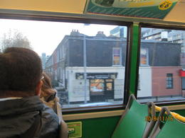 Dublin from our bus , Laci - December 2016